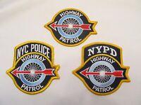 New York City Police Highway Patrol Patch Set Diff