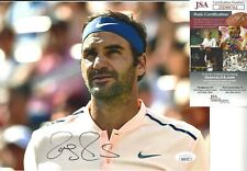 ROGER FEDERER SIGNED/AUTO 8X10 PHOTO JSA CERTFIEND TENNIS MAJOR WINNER WIMBLEDON