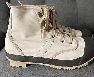 Hodgman Mens Khaki Tan 19200 Steel Shank Caster Wading Fishing Boots Size 10
