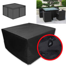 Square Waterproof Garden Table and Chairs Set Cover PVC Patio Outdoor Funiture