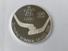 500 won corea 1988 olímpico de invierno-juegos 1988 plata pp