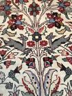 Vintage Hand Knotted P)ersian Pictorial Q)UM Tree Of Life Beautiful 5'6x3'6