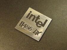 Intel 486 DX Label / Logo / Sticker / Badge 25 x 25 mm [285b]