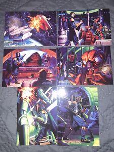 Star Wars Shadows Of The Empire Boba Fett Mandalorian Dark Horse Topps Cards Set