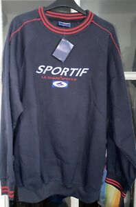 Le Shark Sportif Navy Blue Sweatshirt Top Size L New With Tag Vintage Shop Stock