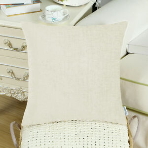 """Solid Dyed Soft Chenille Cushion Covers Pillow Shell Case Home Sofa Decor 16x16"""""""