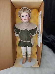 """William Tell The Younger 14"""" Porcelain Doll Violet eyes Wendy Lawton Robin Hood"""