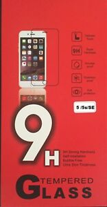 10 x Genuine Tempered Glass Film Screen Protector for Apple iPhone 5 5S 5C SE