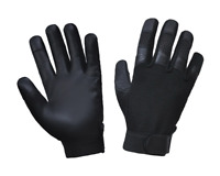 Mens Leather / Textile Motorcycle Full Finger Gloves 8158