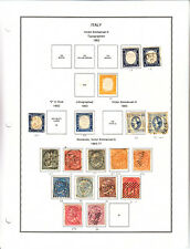 ITALY COLLECTION #19/1756 ON STAMPALBUM PAGES CV$4768.80