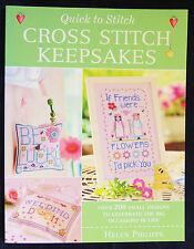 Quick Cross Stitch Keepsakes Helen Phillips PB 2008 >200 Small Designs Celebrate