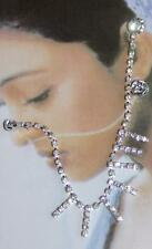 New Non Pierce Nose to Ear Chain Crystal Rhinestone Jewelry Fish Hook Nose