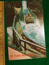 Vintage Log Jamboree Ride Flume Six Flags Over Georgia, Atlanta Postcard P8