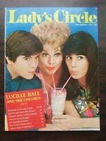 Vtg 1968 December Lady's Circle Magazine Lucille Ball & Children Beauty Crafts