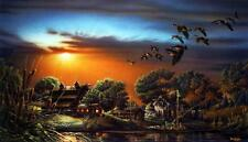 "Terry Redlin ""Lazy Afternoon "" Signed and Numbered Print 28.5"" x16.5"""