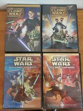 Lot Of 4 Star Wars Clone Wars DVDs; Volume 1 And 2, Galaxy Divided