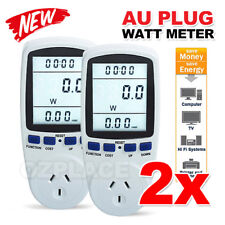 2X AU Plug Power Energy Consumption Watt Meter Electricity Usage Monitor Socket