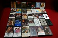 Lot of 34 cassette Tapes, Assorted Country, Rock, Gospel,, Not Tested