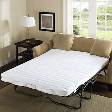 """White Microfiber Sofa Bed Mattress Pad Cover Protector 60x72"""" Queen Waterproof"""