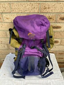 Alpine Lowe High Plains ND 60 Hiking Pack Purple Mustard In Good Used Condition