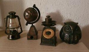 4 x Figur Metall 1940-1970 Anspitzer sharpener sammlung collection kollektion .