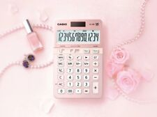 Casio Js-40B-Pk Extra Large Display Pink color 14-Digit Calculator Dual Power