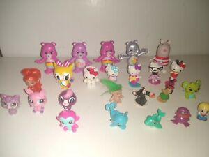 mixed plast figure lot of 24, Care Bears & little kitty & Mini Pet Shop & others