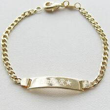 14K Gold Filled Baby ID Bracelet With Engraving 6' adjustable chain made NYC-14