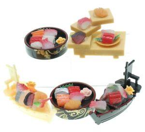 Blind Box 1:6 Dollhouse Miniature Sushi Fish Food Bowl Boat 1 Random Figure