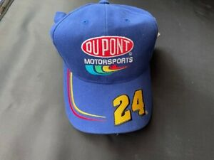 NWT Jeff Gordon Dupont Motorsports Blue NASCAR 24Fitted Hat Cap Chase Authentics
