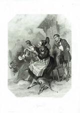 TYROL TIROLO - Personaggi e animali - Stampa Originale 1800