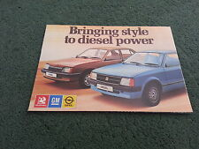 May 1982 VAUXHALL DIESEL CARS - Astra & Cavalier - UK FOLD OUT BROCHURE - V2580