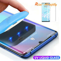 For Huawei P30 Pro Mate 20 Pro 360° 6D UV Liquid Full Cover Case Tempered Glass