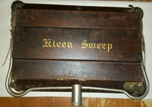 Vintage Kleen Sweep Wooden Floor Sweeper