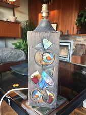 "Rare  1960s Tilgmans Pottery Sweden ""Fantasy Leaf"" Lamp Base by Dagny Petrusson"