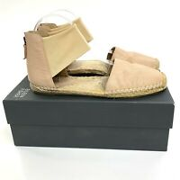 Eileen Fisher Coy Espadrille Skimmer Flats Size 8 Womens Desert Leather Sandals