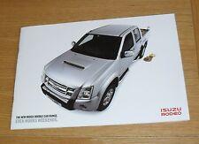 Isuzu Rodeo 4X4 Double Cab Pick Up Brochure 2008-2010 - 2.5 3.0 Denver Max LE