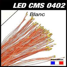 C144W# LED CMS pré-câblé 0402 blanc fil émaillé 5 à 20pcs  - prewired LED