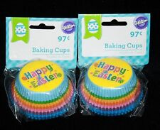 HAPPY EASTER RAINBOW Baking Cups Cupcake Party 100 Wilton Standard Liners New