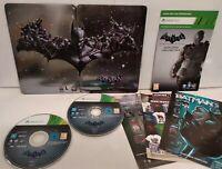 BATMAN Arkham Origins Steelbook + Jeu XBOX 360 - PAL - Comme neuf