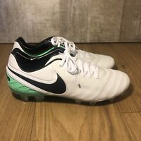 Nike Tiempo Legend VI FG Soccer Cleats White Green 819177-103 Men's Size 8