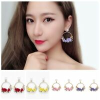 Women Personality Pearl Flower Stud Fashion Temperament Jewelry Earrings New