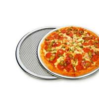 "Pizza Stone 6'' 7"" Seamless Rim Aluminium Pizza Mesh Screen Baking Tray Making J"