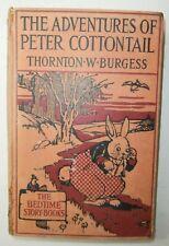 Raro Libro antico The adventures of Peter Cottontail Illustrato per bambini