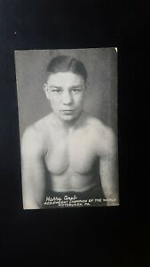 Vintage 1925 Exhibit Supply Boxing Card: Harry Greb. Pittsburgh, PA.