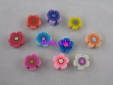200 pcs Mixed colour fimo polymer clay flower beads 8mm