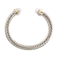 DAVID YURMAN Women's Cable Classic Bracelet with Pearl & 14K Gold 7mm $775 NEW