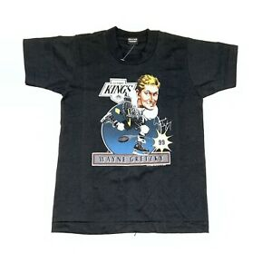Vintage 80s Los Angeles Kings Wayne Gretzky Caricature T-Shirt Size Youth M BOYS
