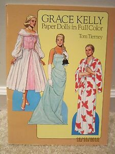 "Grace Kelly Paper doll, by Tom Tierney   ""NEW, UNCUT"""