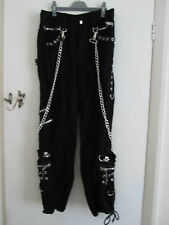Black Steampunk / Goth / Bondage Living Dead Souls Trousers in Size 32 - L33